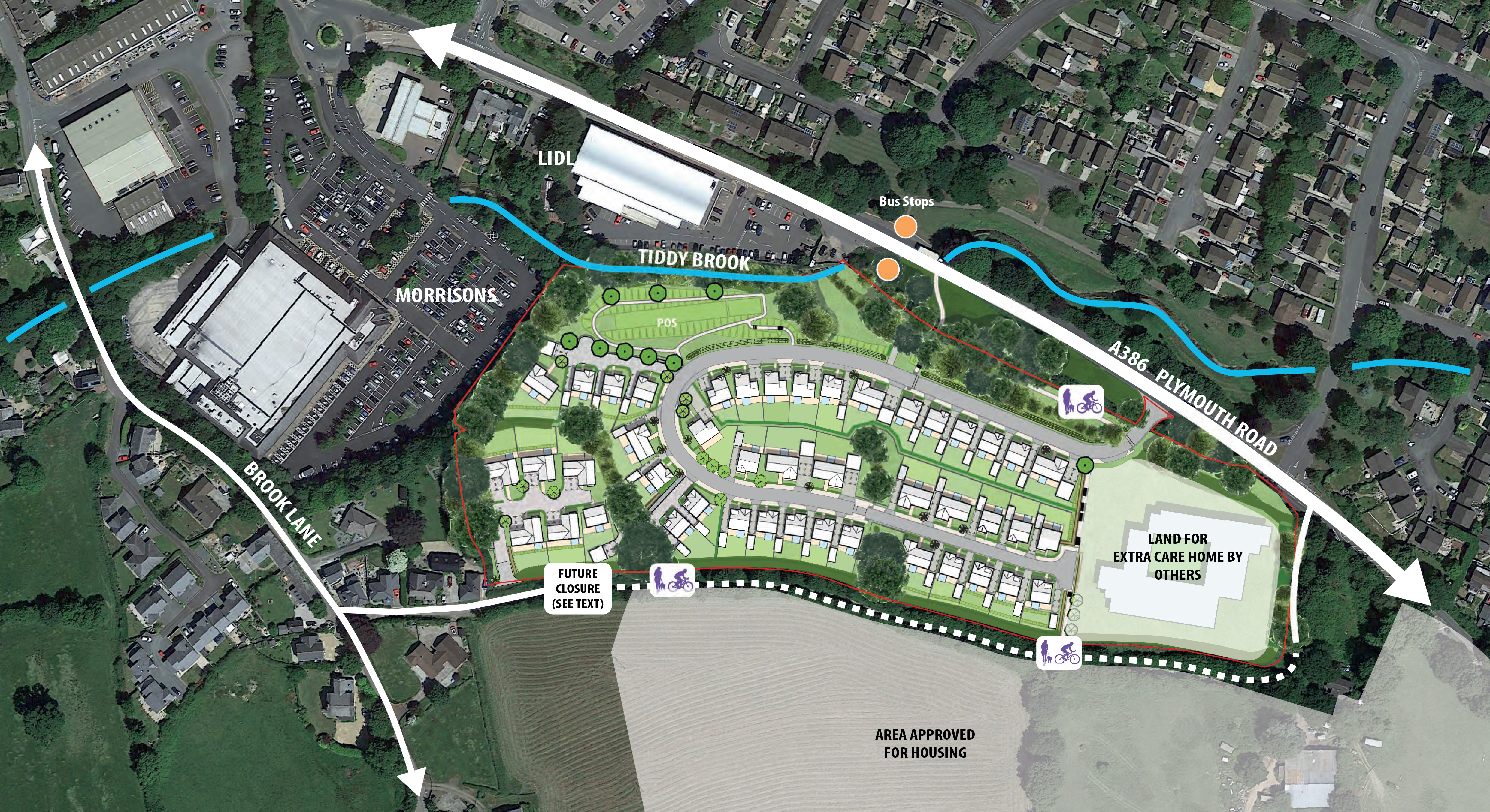 Proposals for new homes in Tavistock submitted; extra care facility also part of plans