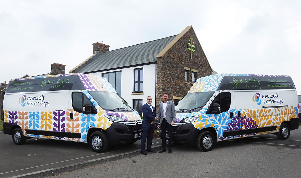 BAKER ESTATES GENEROUSLY SUPPORTS ROWCROFT HOSPICE RETAIL VANS