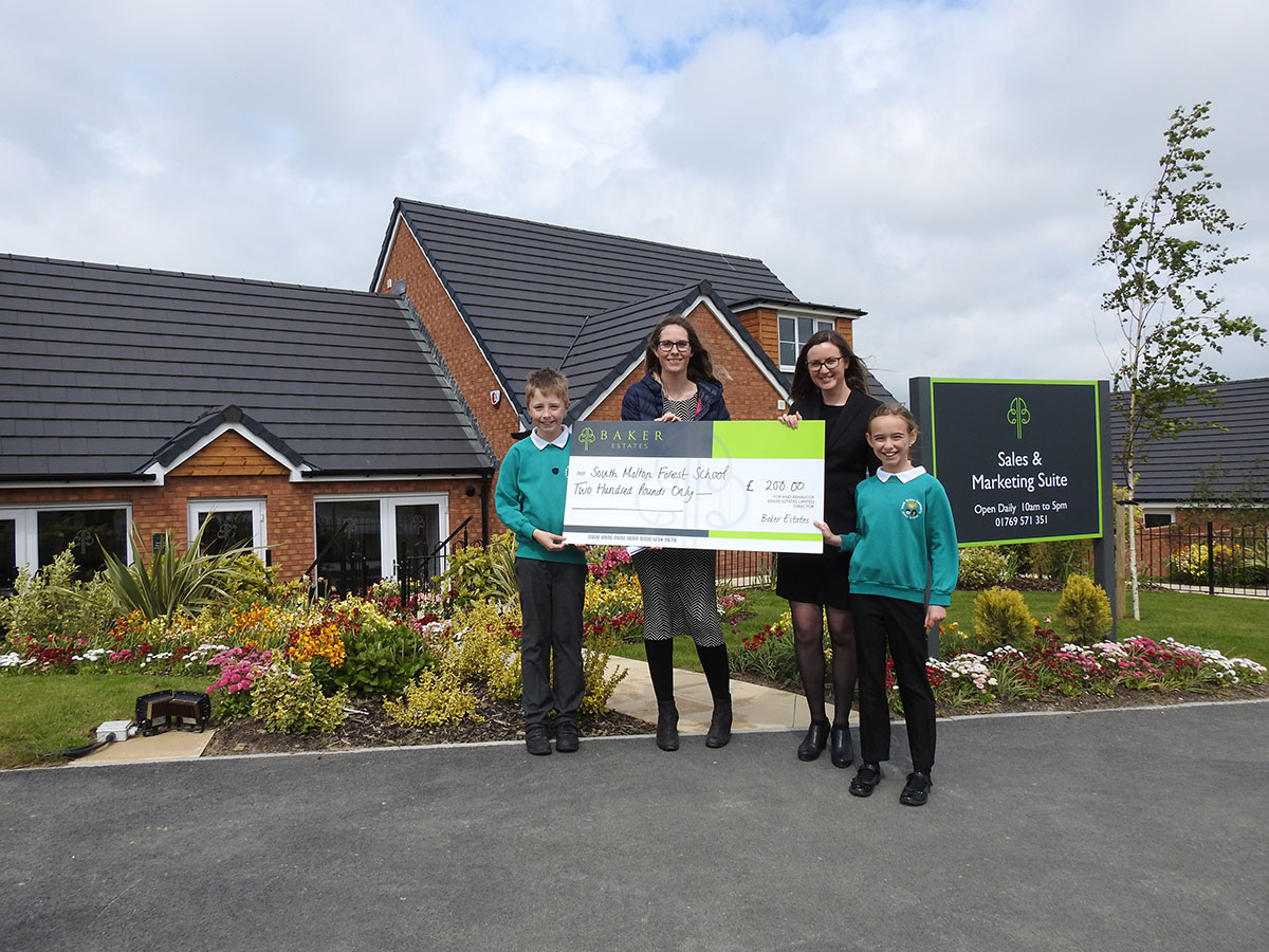 South West housebuilder continues its support for   local primary school with donation