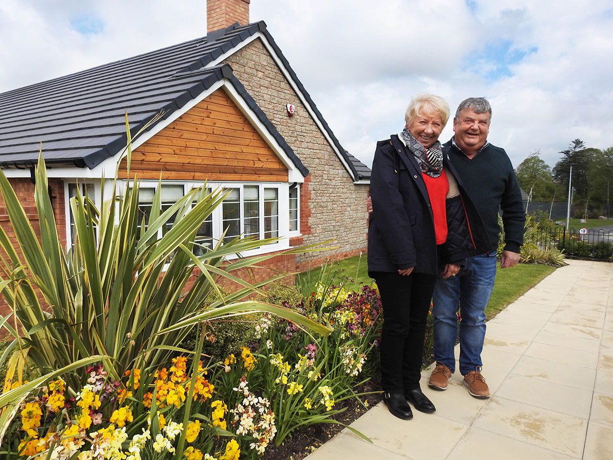 Mr & Mrs Lockhart enjoy their new home at Bee Meadow