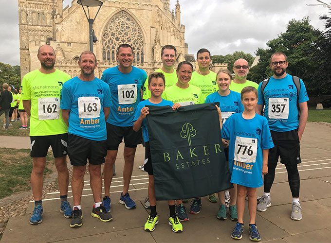 Team Baker Estates completes Michelmores' 5k Charity Run in Exeter City