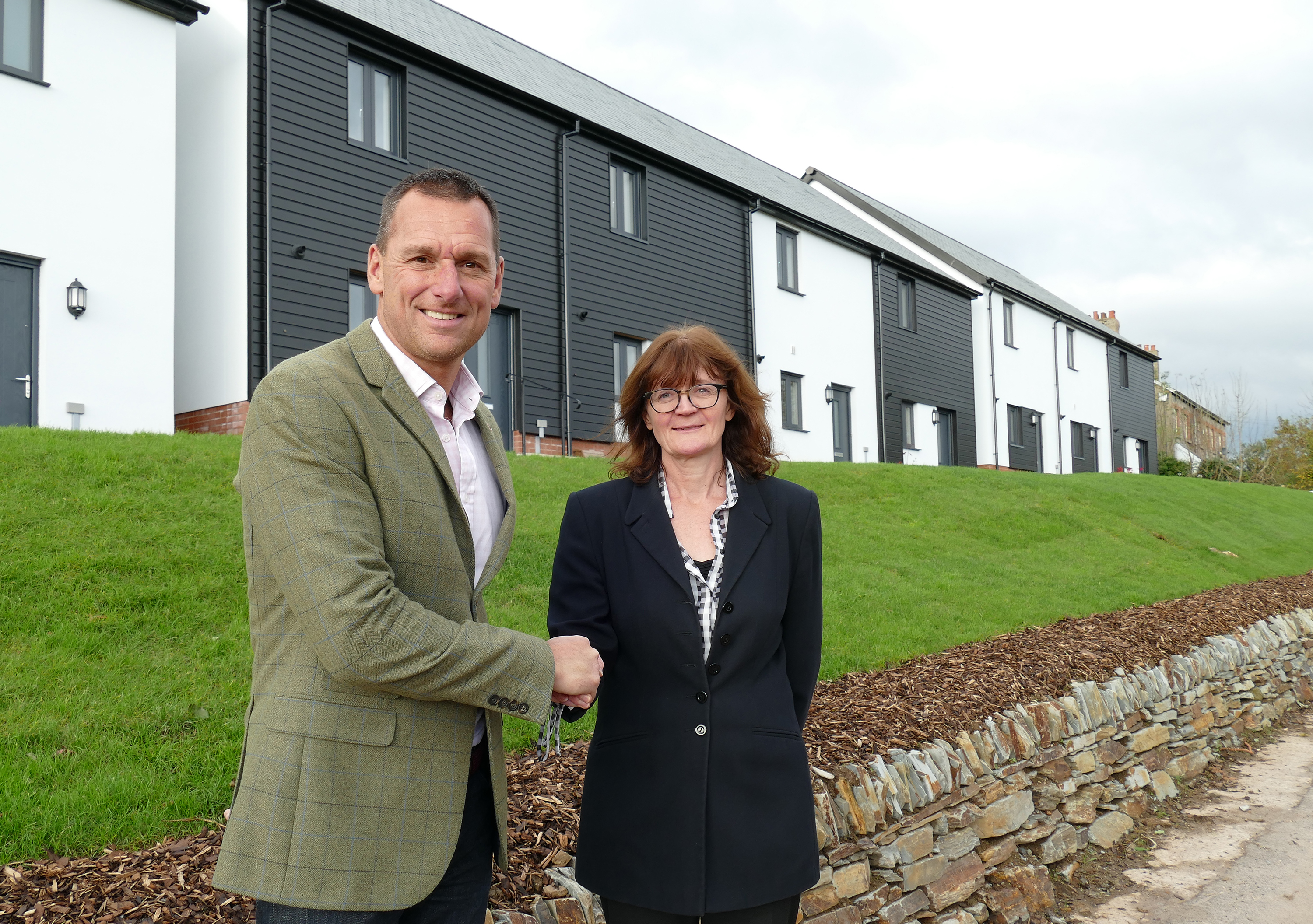 Baker Estates hands over the last affordable homes to Teign Housing as development in Totnes comes to an end